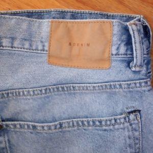 & Denim by H&M bermuda jean shorts light wash 34